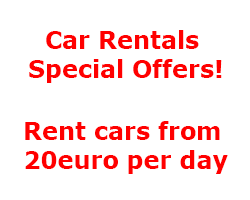 Car Rentals Special Offers! Rent cars from 20euro per day. Book Now